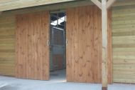 Sliding Doors for the American Barns can be purchased separately.