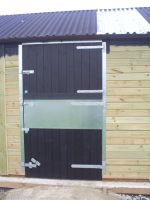 Stable Doors painted with ebony protek. Contact us for further details.