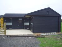 Stables treated with Ebony Protek Wood Protector