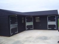 Stable Yard treated with Ebony Protek Wood Protector.