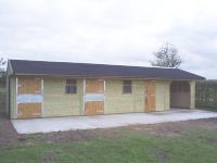 Standard stables with hay store.