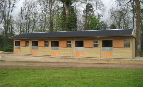Warwick Buildings Stables at the yard of the late Sir Henry Cecil, training home to Frankel, the worlds highest-rated racehorse